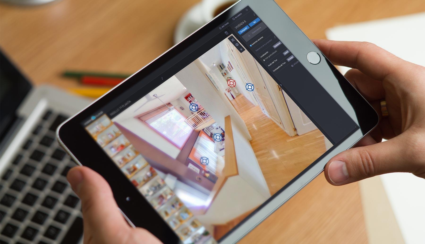 Editor de Viseni Clloud en el iPad